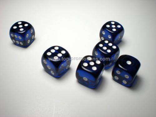 White 16mm d6 Dice