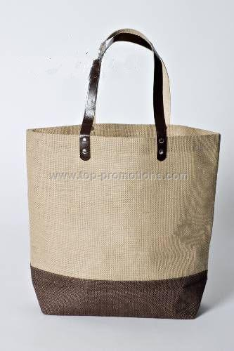 Belize Two tone Burlap Jute Tote Bag