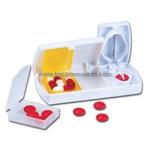 Pill Cutter with 2 Pill Boxes