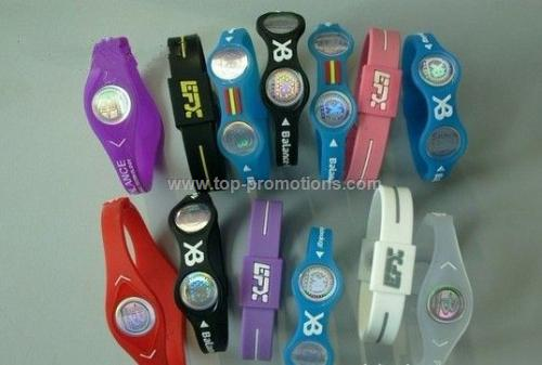 Silicone wristbands with watch