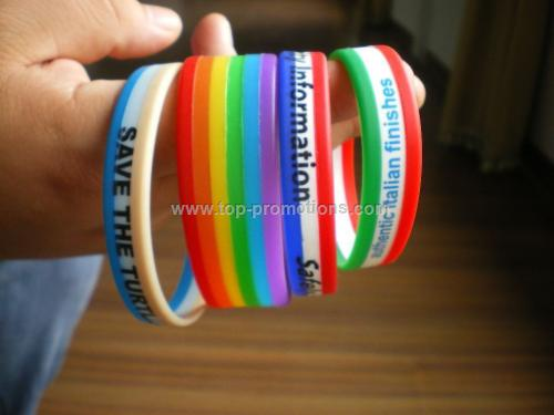 Silicone bracelets/Wristbands