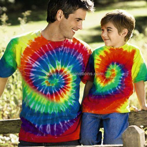 Adult Rainbow Swirl Tee Shirt