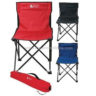 Outdoor folding chair with carry bag