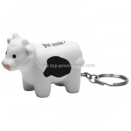 Milk Cow Keychain Stress Reliever