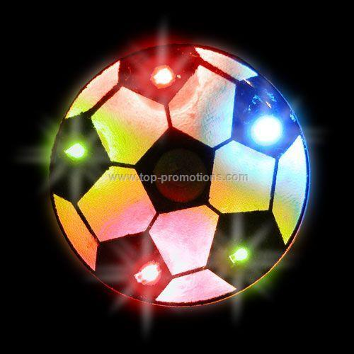 LED Light-Up Magnet - Soccer Ball