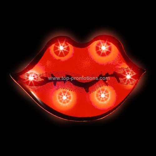 LED Light-Up Magnet - Lips