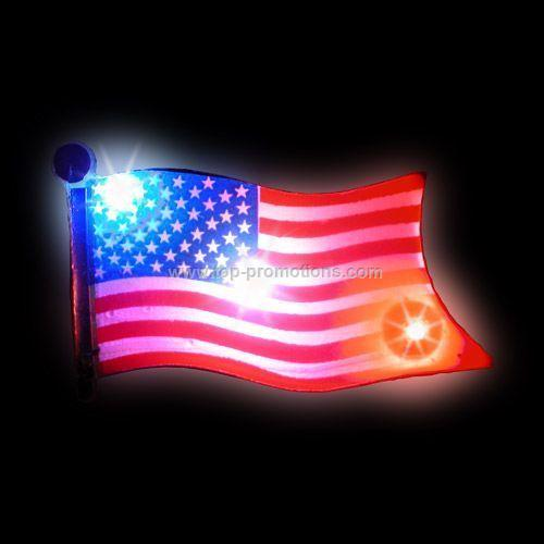 LED Light-Up Magnet - USA Flag