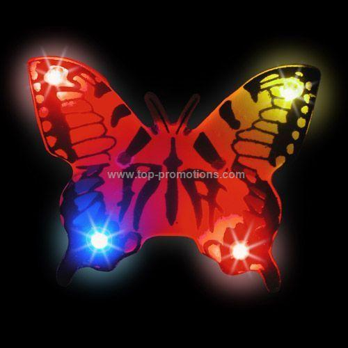 LED Light-Up Magnet - Yellow Butterfly