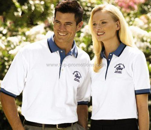 Pique Polo Shirt with Contrasting Trim