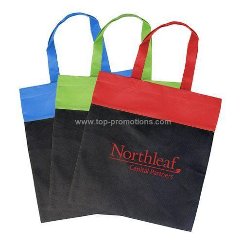 Non Woven Two-Tone Budget Tote Royal/ Black