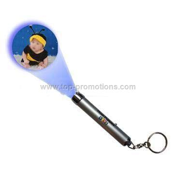 LED Light Projector Key Chain