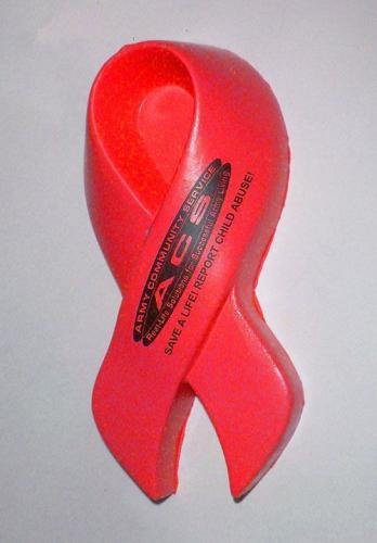 AIDS RED Ribbon stress ball