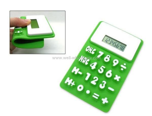 2012 latest fashion hot selling pocket silicone calculator