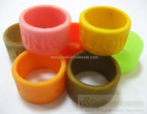 silicone ring with custom logo