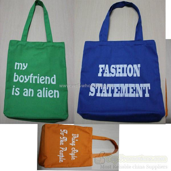 fashionable canvas tote bags for gift promotion
