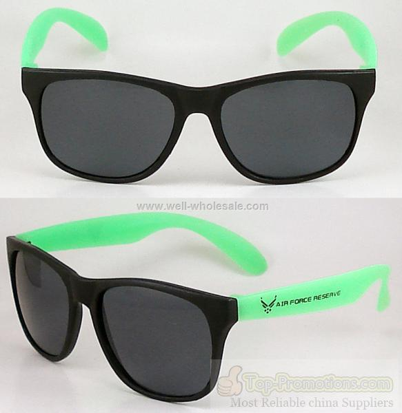 2012 New Fashion Custom Promotional Gifts Colorful Neon Rubber Sunglasses
