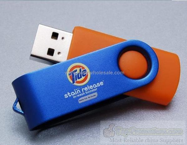 2012 new style swivel whirling metal usb