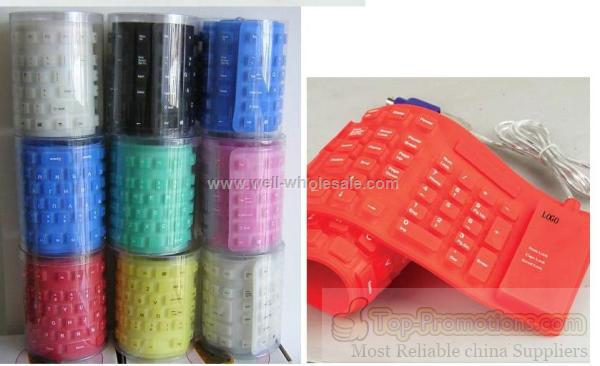 Multi-functional USB Flexible silicone Keyboard