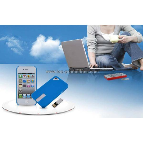 4GB 8GB USB Flash Drive Snap Para Back Cover for iPhone 4/4S