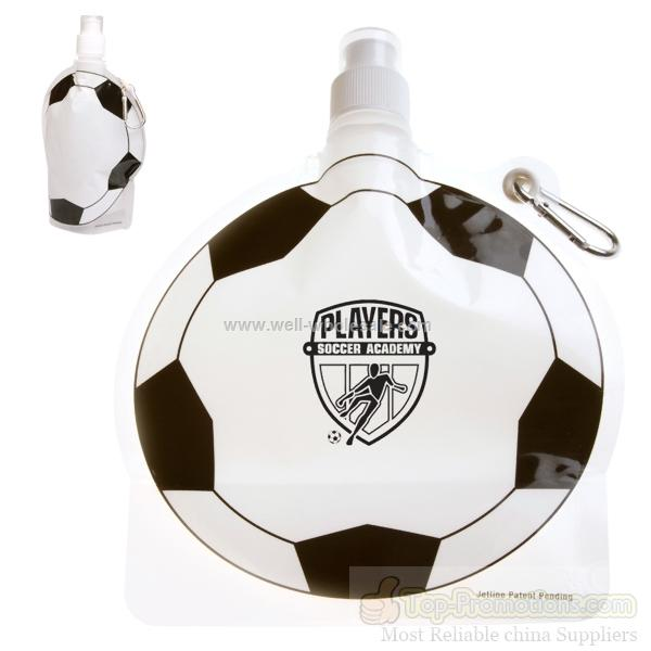 Custom Imprinted Soccer Shaped HydroPouch! Bottle