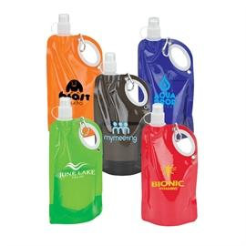 25 Oz. Collapsible Water Bottle with Carabiner