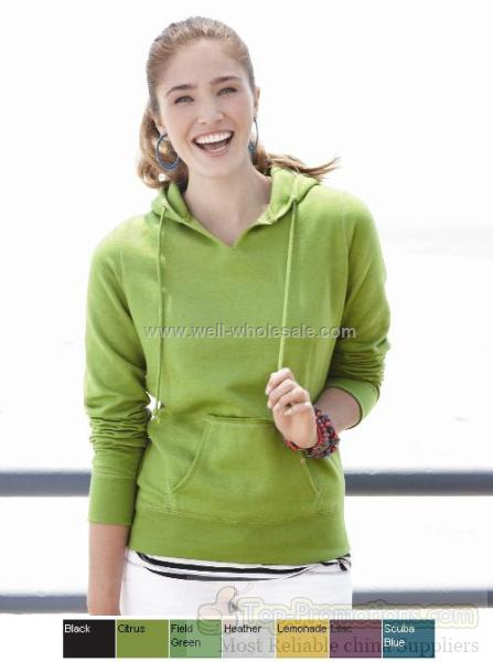 Weatherproof Ladies' V Hooded Pullover