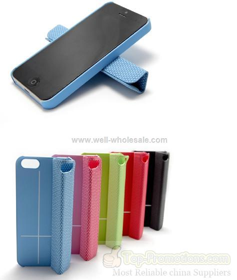 iPhone5 Magnet Multi-angle Stand Spherical frosted backing PU Protective Smart Cover iPhone5 Case