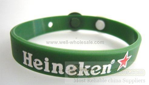 Custom-made Silicone bracelet with button