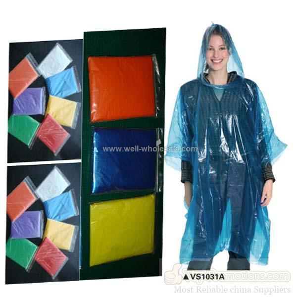 disposable plastic rain poncho