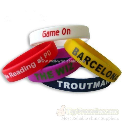 printed cheap silicone wristband wholesale