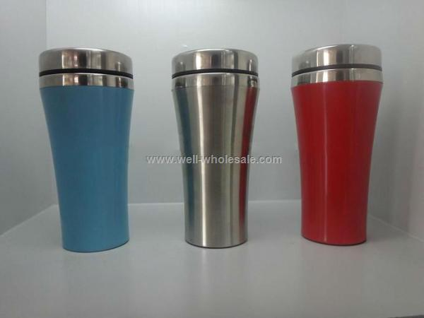 Hot 450ml double wall stainless steel mug