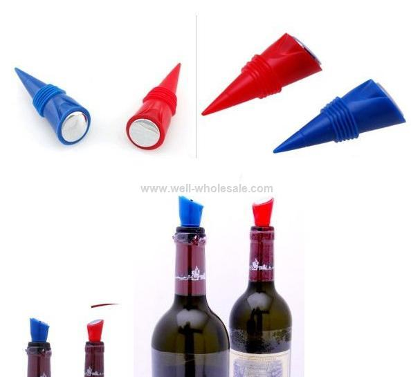 Hot sale non spill and practical silicone wine bottle stopper