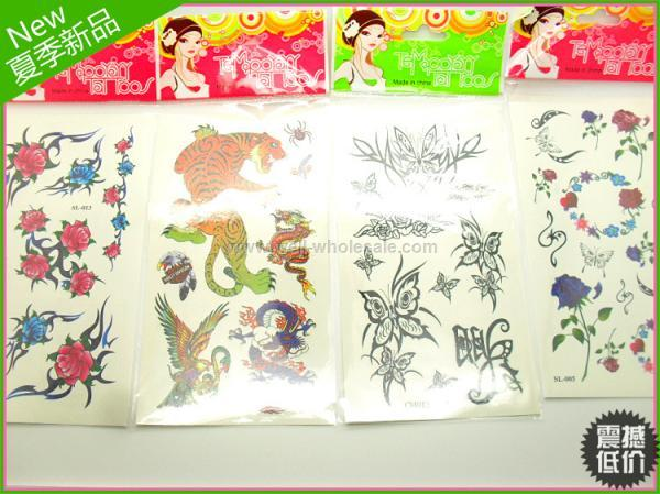 2013 hot sell fashion flower temporary tattoo