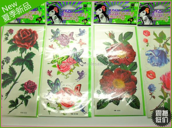 2013 fashion flower temporary tattoo