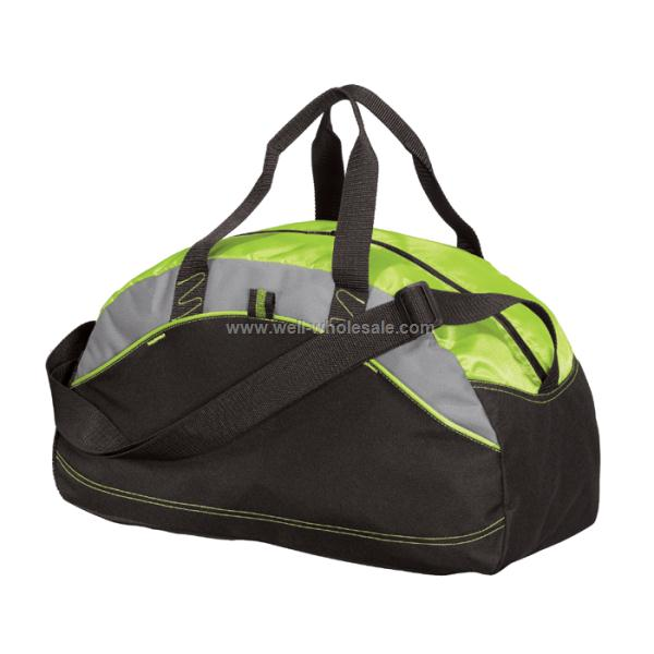 Sports Bag With Contrast Fabric