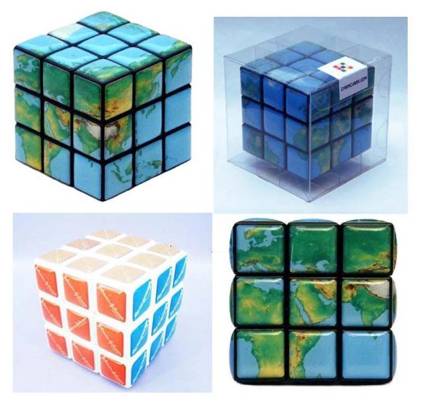 Promotional Rubik s Cube, Magic cube with dispensing logo