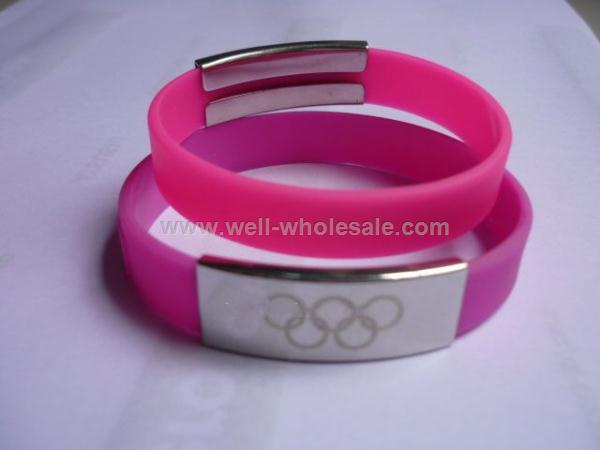 Metal Silicone Wristband