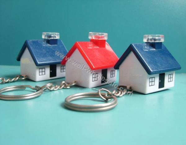 House shape led keychain