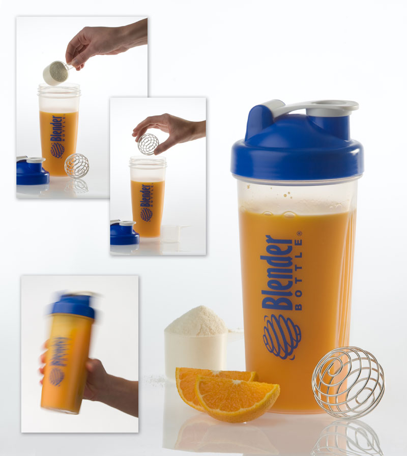 BPA free plastic blender bottle