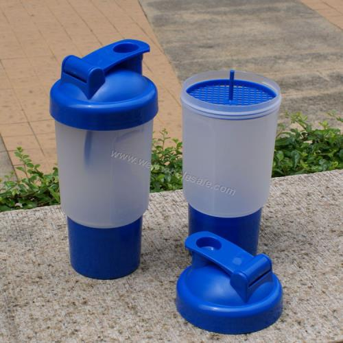 Fashion smartshaker blender protein shaker bottles with pill box