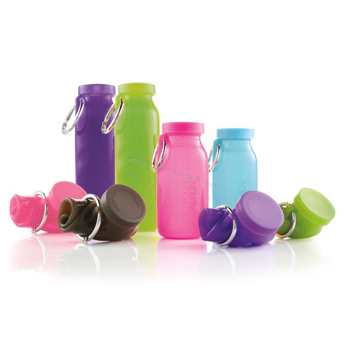 Silicone Bottle/Collapsible Silicone Water Bottle/Silicone Foldable Water Bottle