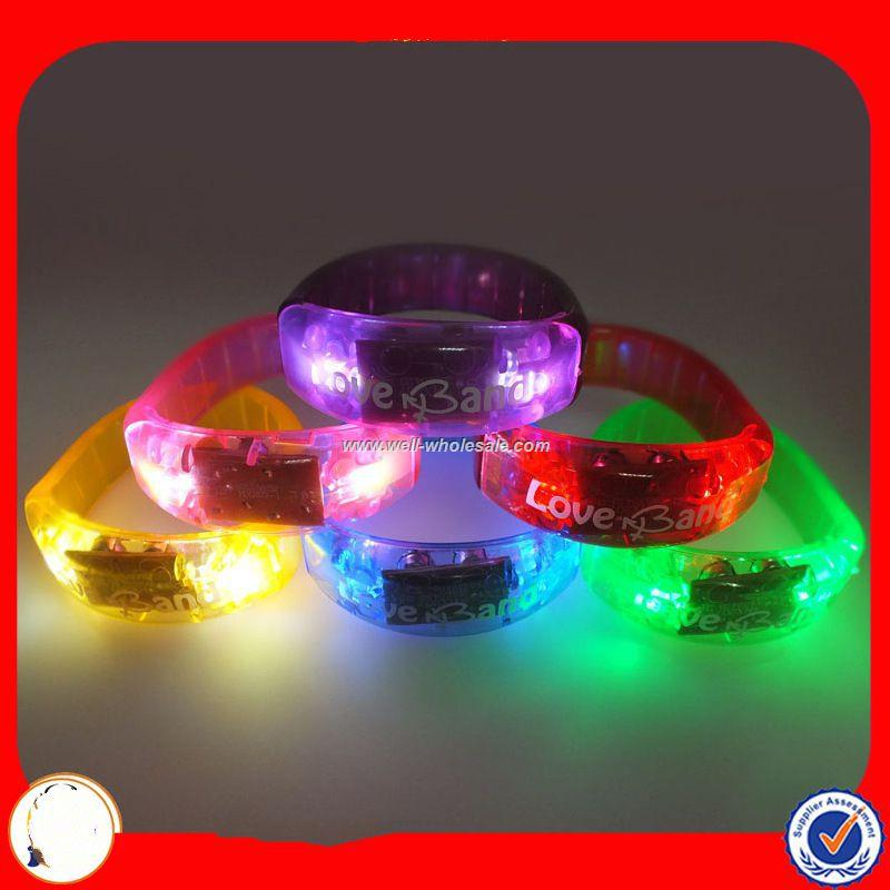 Sound Control LED Wristband For Promotional Gift, Night Club, Pubs,Concert, Night Racing Or Party