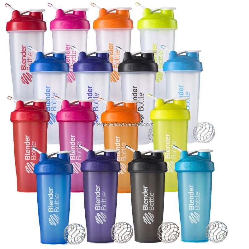 Wholesale,16oz/400ml plastic protein shaker bottle with blender ball and handle ODM