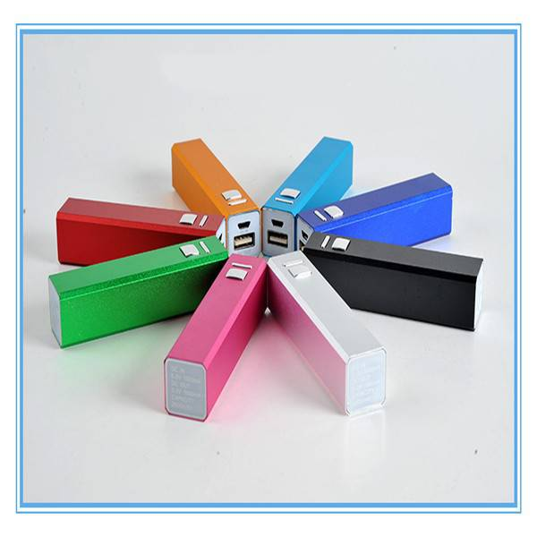 Square Metal Mini Mobile Bank Power 2600 mAh Power Bank