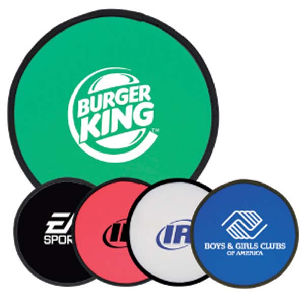 small flying fold up mini frisbee