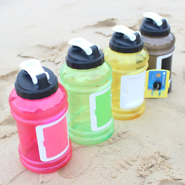 beautiful large 2.2l water jug half gallon water bottles shaker