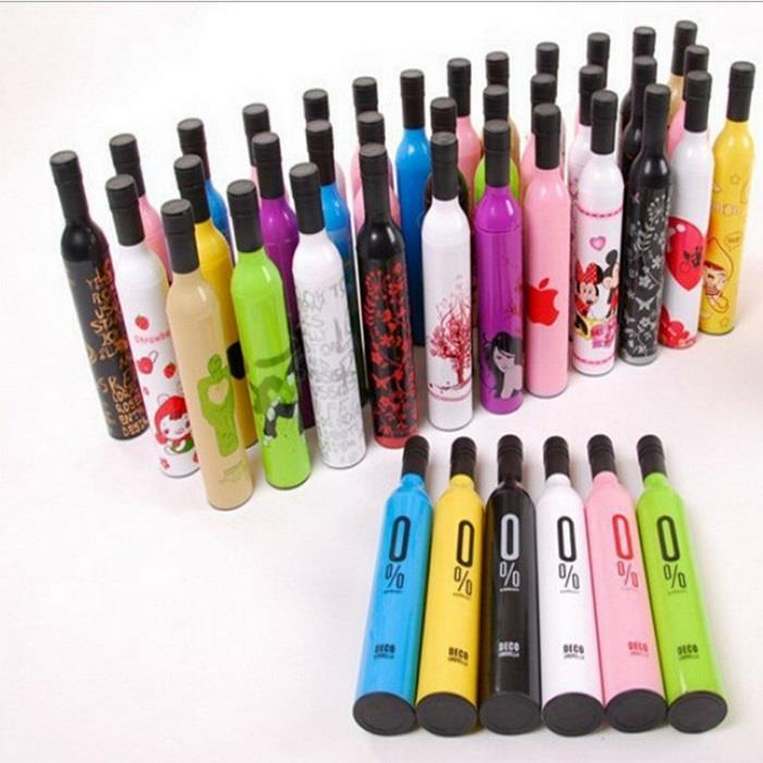 Wine Bottle Umbrella / Promotion cheap wine bottle folding umbrella