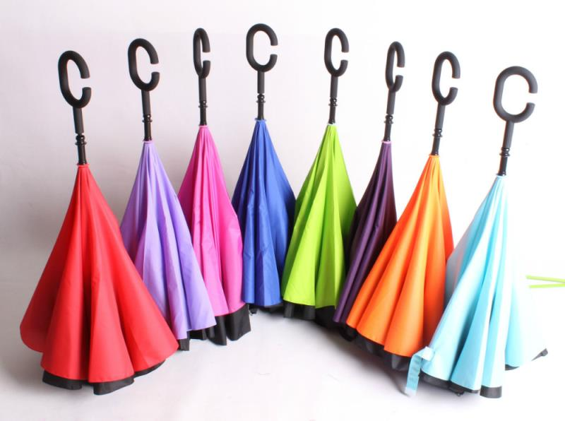 Straight waterproof 2018 new style umbrella reversed inverted umbrella