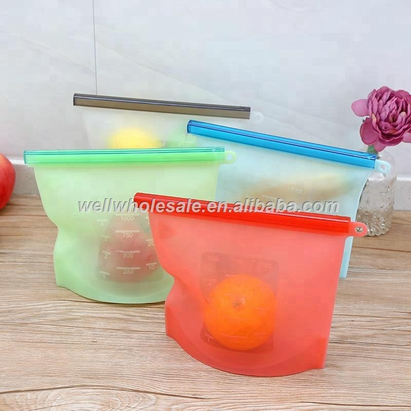 silicone food storage bag,silicone bag for food storage,reusable silicone food storage bag