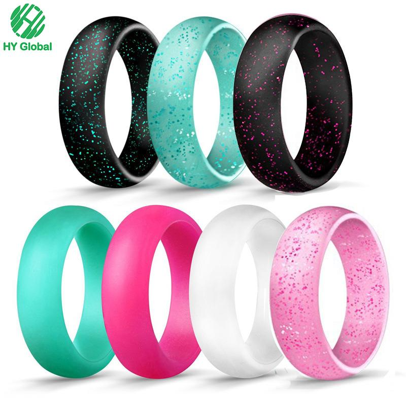 Custom silicone rubber finger ring for wedding